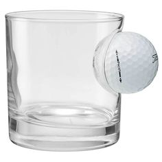 Watch out for this Golf Ball Rocks Glass!Rocks glass with a real Titleist Golf Ball!Each rocks glass is unique. Made in the USA from US sourced goods!Great for any golfer! Good or bad! Golf Tournament Gifts, Golf Membership, Glass Rocks, Golf Party, Whiskey Glasses, Golf Channel, New Golf, Golf Gifts, Golf Fashion