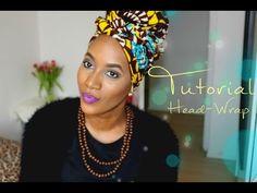 DIY -How I Tie Turban/ Badu Head Wrap Tutorial for Bad Hair Days, fall hair - YouTube