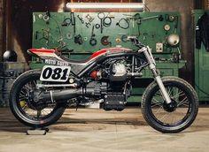 Yamaha Sr400, Ducati, Flat Tracker, New Motorcycles, Motorcycle Garage, Sliders, Harley Davidson, Wings, Bmw
