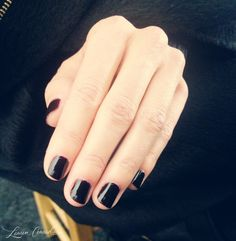 classic opi lincoln park after dark nail polish at bcbg fall 2013 #nyfw