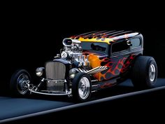 Way Cool Flamed Pro-Street Hot Rod