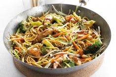 This chow mein recipe BBC Good Food is a good for your dinner made with wholesome ingredients! Bbc Good Food Recipes, Dinner Recipes, Cooking Recipes, Healthy Recipes, Healthy Dishes, Fodmap Recipes, Stir Fry Recipes, Chicken Chow Mein, Chicken Recipes Video
