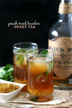 Peach Mint Bourbon Sweet Tea