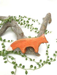 fox waldorf toy wooden fox toy fox figurine wooden waldorf