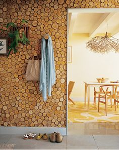 Interesting DIY birch wall panel from Martha Stewart.