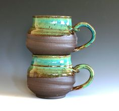 I have some pieces with this exact stain & I LOVE them! Wouldn't mind matching mugs :)