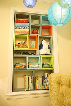 colorful cube bookcase via flickr