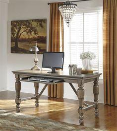Coastal Home Office Desk #ashleyfurniture #realwood #qualityfurniture  www.qualitybeddingfurniture.com