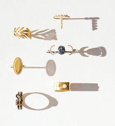 From top: Aimée.Aimer ring with cultured pearls, $790; aimee-aimer.com; Marc Alary ring with diamonds, $2,390; Jeffrey, NYC, 212.206.1272; Maison Martin Margiela Line 12 Fine Jewelry sapphire ring with diamonds, $4,300; Maison Martin Margiela, NYC, 212.989.7612; Jennifer Meyer pavé diamond ring, $3,225; barneys.com; Janis Savitt ring with diamonds, $3,160; bergdorfgoodman.com; 6 the Three Graces Victorian enamel-and-diamond buckle ring, $2,250; georgianjewelry.com.Fashion Editor: Karen ...