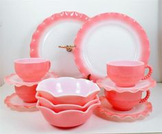 Hazel Atlas Pink Crinoline-darling; I should begin collecting that for Faith