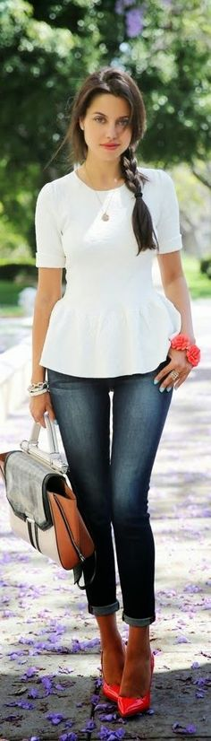 Cute peplum top!
