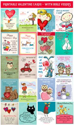 Free Printable Valentines With Bible Verses Saint Valentin imprimable gratuit avec versets bibliques My Funny Valentine, Valentines For Kids, Valentine Day Crafts, Happy Valentines Day, Valentine Ideas, Valentine Verses, Printable Valentine Cards, Valentine Stuff, Valentines Greetings