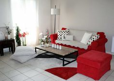 Red Color Schemes For Living Rooms With Elegant Ideas | Latest ...