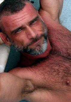 hairydads: hairmuscleandtestosterone: hottest men EVER? DAMN!