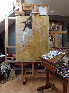 Gladys Roldan de Moras #workspace #studio #atelier