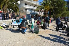 Beach at Baosici where the women has been prepared the fish during festival,