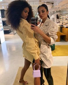 """AMINA MUADDI 🧚🏽♀️ on Instagram: """"HBD girlfriend! Needed way more slides for all the beautiful moments we shared. Now you're on lockdown but don't worry this year will bring…"""" Girls Time, Beautiful Moments, No Worries, Girlfriends, Bring It On, In This Moment, Coat, Jackets, Instagram"""