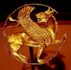 - century BC - winged lion worked in gold repoussé attests to the skill of goldsmiths. The back of the feline's body bears sixteen tiny loops for attachment to a garment Ancient Mesopotamia, Ancient Civilizations, Ancient Jewelry, Antique Jewelry, Ancient History, Art History, Sassanid, Achaemenid, Ancient Persian