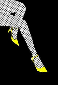'Legs and Heels', , 'Lichtenstein Style by Tyler Spangler.