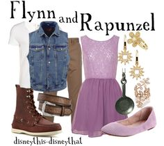"""Flynn and Rapunzel""  by DisneyThis-DisneyThat on Tumblr"