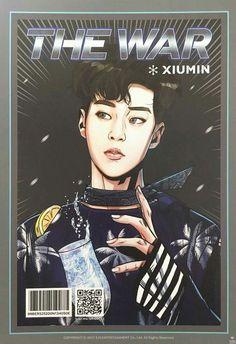 Other Non-Sport Card Merch Collectibles Kpop Exo, Fanart Bts, Exo Album, Chanyeol Baekhyun, Exo Fan Art, The Power Of Music, Kpop Drawings, Xiuchen, Fanarts Anime