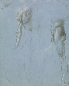 A male nude seen from the back and side Leonardo da Vinci. Currently in show at the British Museum.