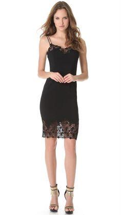 Versace Lace Edge Cocktail Dress-Black