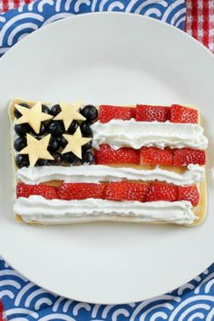 A stack of patriotic pancakes!
