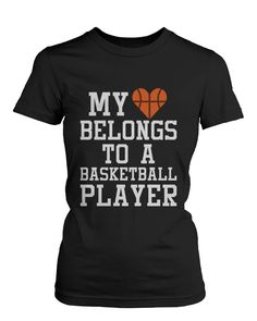 My Heart Belong to A Basketball Player Sports Mom T Shirt Basketball Rules, Basketball Workouts, Basketball Shirts, Basketball Season, Basketball Outfits, Basketball Girlfriend, Basketball Tattoos, Basketball Motivation, Basketball Videos
