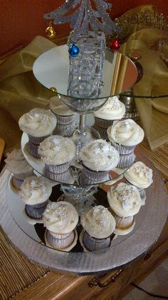 Cupcakes on mirrored stand Order from carolsjustdesserts@gmail.com Wedding 2017, Cupcakes, Create, Desserts, Cupcake, Deserts, Dessert, Postres, Cupcake Cakes