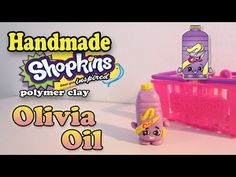Season 2 Shopkins: How To Make Olivia Oil Polymer Clay Tutorial! - YouTube