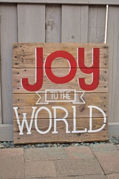 Joy to the World Christmas Typography Sign