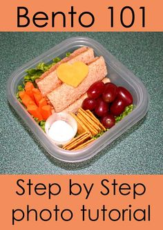 Step-by-step tutorial walking you through the process of making a good looking bento with nothing but a Ziploc container, a knife and some kitchen shears. Don't make it harder than it has to be!