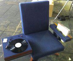 LP listening chair. #djculture ##music http://www.pinterest.com/TheHitman14/dj-culture-vinyl-fantasy/