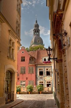 Riga, Latvia   All these European countries are so pretty.  I wish I could visit all...