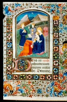 Flemish medieval Illuminations | The visit of the Magi from LUL MS.F.2.19