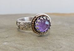 Hey, I found this really awesome Etsy listing at https://www.etsy.com/listing/177740231/amethyst-ring-checkered-board-cut