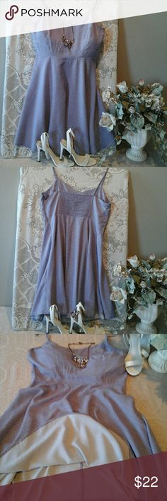 "Gorgeous strap dress👡 Excellent condition,  100% rayon, adjustable shoulder straps,  12"" side zipper,  32""waist, armpit to armpit 36"", length 31"" plus adjustable straps . Nice??, lavender look?? Old Navy Dresses Mini"