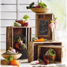 Roost Birch Nested Crates - Set Of 4