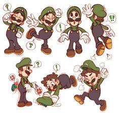 Mario Und Luigi, Super Mario And Luigi, Super Mario Art, Mario Bros, Chibi, Super Mario Kunst, Green Warriors, Mario Fan Art, Play My Game