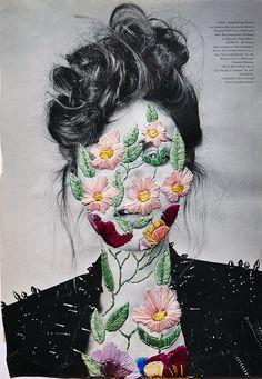 https://flic.kr/p/ekagA5 | Flowers | embroidery on photo MAG