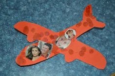 Airplane Craft = cut from construction paper. Have kids decorate with ...