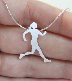 Sterling Silver Runner Neckalace Pendant