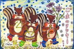 3人の楽器隊(ごまのクッキー)