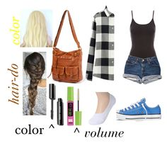 """""""First day of school?"""" by gracerose03 ❤ liked on Polyvore featuring Jane Norman, Uniqlo, Converse and Maybelline"""
