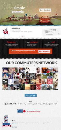 Weroll website - Ridesharing app / I Plan Websites / #ride #app #illustration