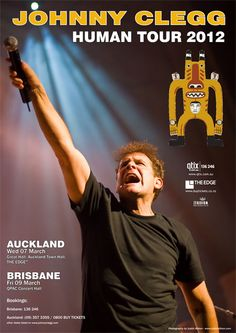 On tour in Australia and NZ right now!  South African LEGEND Johnny Clegg :) Concert Hall, Town Hall, Buy Tickets, Brisbane, South Africa, African, Australia, Singer, Tours