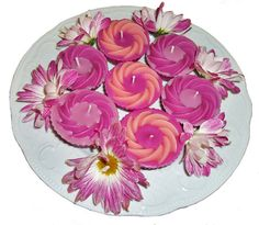 Handmade Scented Cup Cake Candles Pink/Purple by GrannyThimble, £3.40