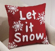Pillow, Let It Snow from Through the Country Door®