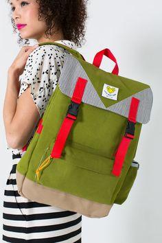 Adventure Backpack in Olive Green- PRE-ORDER